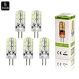 ELINKUME 5X G4 LED Stiftsockellampe 3 Watt Tageslichtweiß