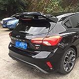 ABS AleróN Trasero Para Ford Focus RS ST 2019 2020 2021,Maletero Trasero Tail Lip Wing Maletero Trasero Difusor Rear Maletero Spoilers Accesorios De ModificacióN De AutomáTica (Negro)