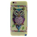 Iphone 6 Case,iphone 6 TPU Case,nancy's ShopNew Fashion Pattern Design [Ultra Slim] [Perfect Fit] [Scratch Resistant] Premium TPU Gel Rubber Soft Skin Silicone Protective Case Cover for Iphone 6 (4.7)(not for Iphone 6 Plus) (Single Owl Pattern)