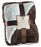 Genteele Sherpa Throw Blanket Super Soft Reversible Ultra Luxurious Plush Blanket (60 inches x 70 inches, Gray)