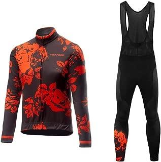 Uglyfrog Men Long Sleeve Cycling Jersey Kit Suits Bike/Racing/MTB/Triathlon Clothing Cycling Long Bib Pants with Gel Padded