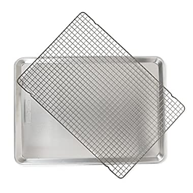 Nordic Ware 44612 2 Pc Naturals Big Sheet with Oven Safe Nonstick Grid, 2-Piece Set, Aluminum
