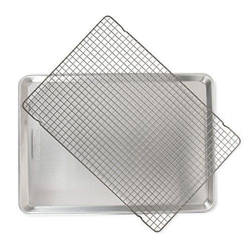 Nordic Ware 2 Pc Naturals Big Sheet W/Oven Safe Nonstick Grid, 1-Pack, Aluminum