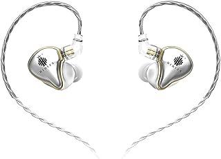 HIDIZS MS1 In-Ear Monitor Headphones, Hi Res Headphones Wired Audiophile, Dynamic Diaphragm Hi-Fi IEM Earphones with Detac...