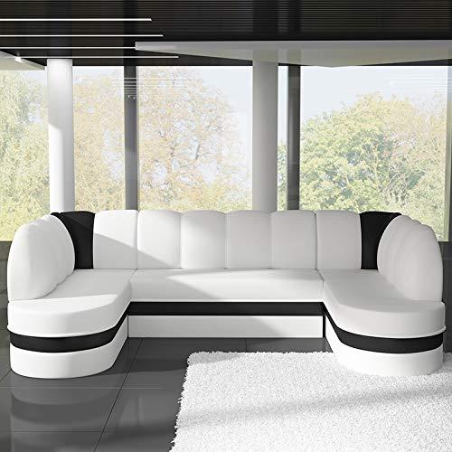 NOUVOMEUBLE sofá panorámica Convertible Blanco Negro Rancho 2