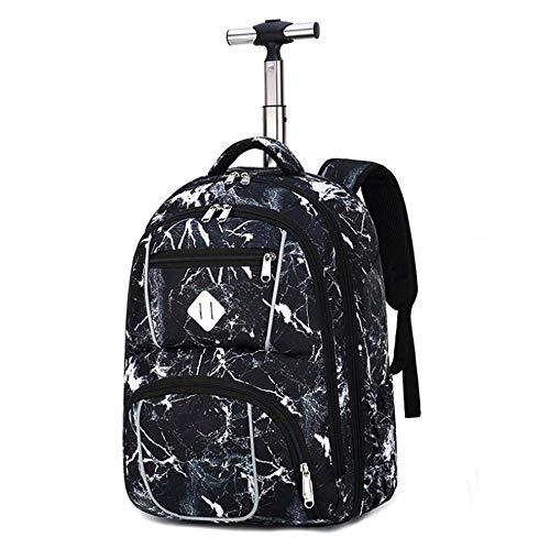 Mochila escolar portátil para niños y niñas se adapta a la mochila con ruedas de 18 pulgadas para adultos y estudiantes escolares, bolsa de viaje, mochila Galaxy