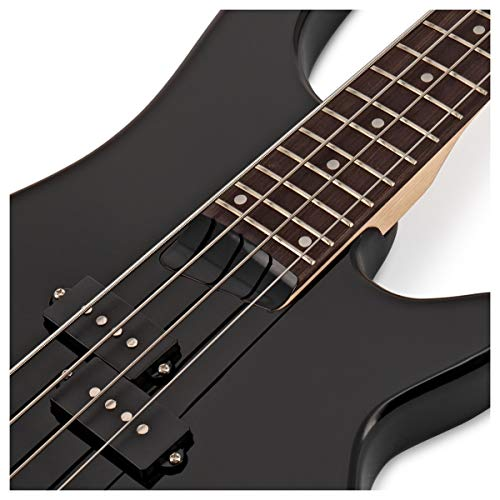 Chicago Bass Guitar by Gear4music, Black