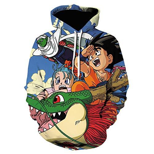 xlei Nuevo Anime 3D Print Hoodie Dragon Ball Hombres / Mujeres Sudadera Niño Goku Sudaderas con Capucha Sudaderas con Capucha Moda Pullover Divertido Streetwear-We-1478_Size_5XL