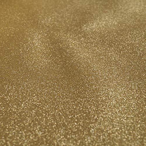 www.aktivstoffe.de Starlight - Hochwertiger Glitzerstoff - Gold - Meterware