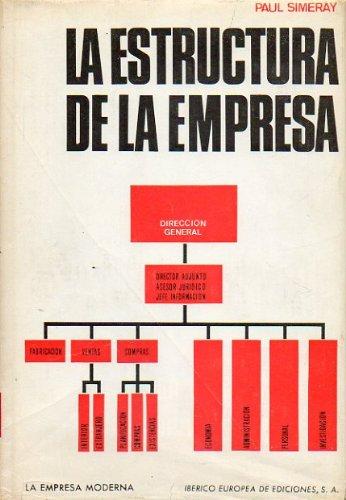LA ESTRUCTURA DE LA EMPRESA. Principios y definiciones. Tipos de estructuras y organigramas.