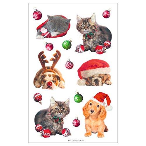 Susy Card 40002545 Sticker, selbstklebend, Bogengröße 8 x 12, 5 cm, 3 Bogen Eingeschweißt, Motiv: Xmas Figuren 5