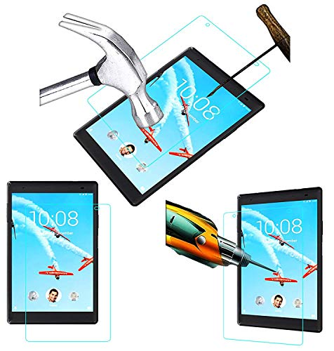 Acm Tempered Glass Screenguard Compatible with Lenovo Tab4 8 Tablet Screen Guard