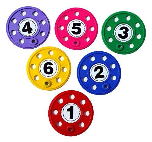 Leisis 0101080 Discos de Buceo numerados, Multicolor, Talla Única