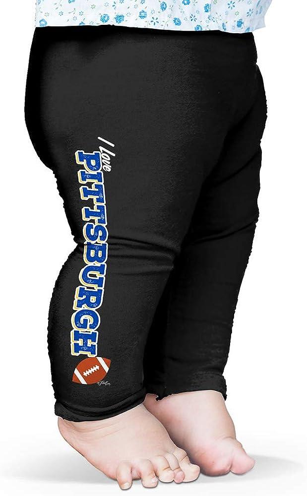 Twisted Envy I Love Pittsburgh American Football Baby Printed Leggings Trousers