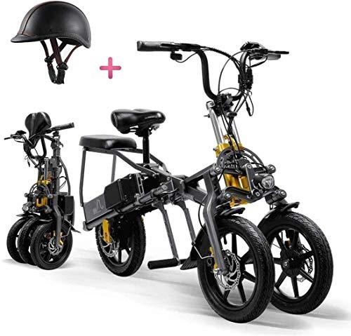 Mr Car Senioren Elektromobil für Erwachsene Faltbare Dreiräder Elektrischer Mountainbike Mini-Roller Bis zu 30 km 25 km/h Lithiumbatterie DREI Geschwindigkeitsmodi Big Wheels Sport