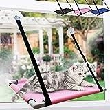 SKRTUAN - Hamaca para gatos, ventanas, accesorios, cama para gatos, 60 x 35 cm, para gatos, estable tumbona para gatos, para gatos, con espacio