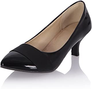 BalaMasa Womens Assorted Colors Fashion Travel Urethane Pumps Shoes APL10393
