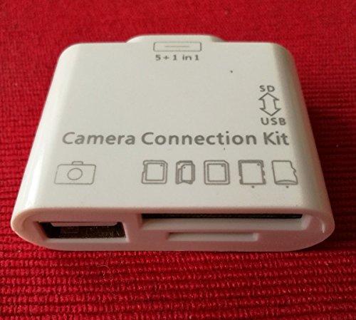 Generic 5en 1USB SD/TF adaptador de lector de tarjetas Kit de conexión de cámara para iPad/2/3/
