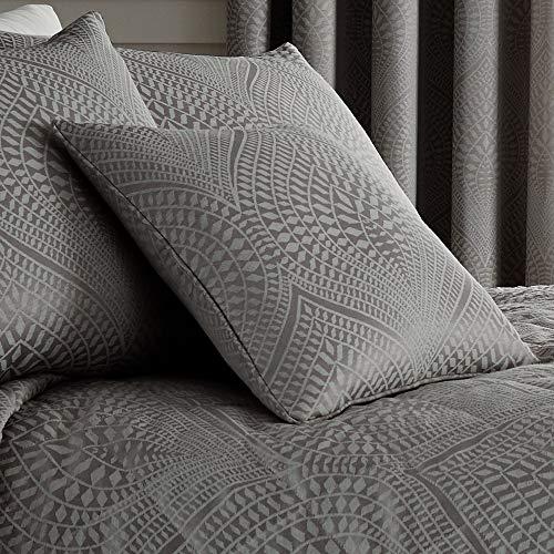 Serene Coussin Garni, Coton/Polyester, Ardoise, 43 x 43 cm