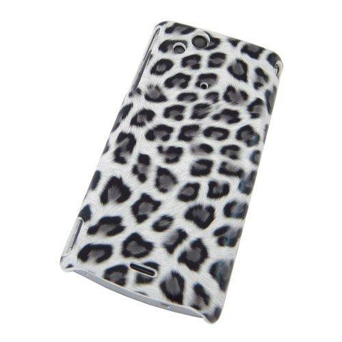 Unbekannt COGODIS Hardcase/Schutzhülle passend für Sony Ericsson Xperia arc / X12 / LT15i Xperia arc S / LT18i - Leopard Weiß/Schwarz/Grau - Backcover Schutz-Hülle Case