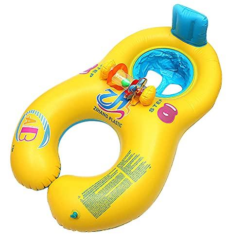 Artline Piscina infantil flotador inflable 2 cámaras de aire mamá me nadar flotador piscina accesorios