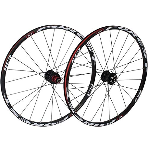 XYSQWZ MTB Bike Wheels 26 Inch, Double Wall 27.5 Inch Bike Rim Cycling Hub 5 Palin Hybrid Quick Release 24 Hole 8/9/10/11 Speed