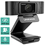 HD Webcam 1080p with Privacy Shutter, Pro Streaming Web Camera with Dual Microphone External USB Computer Camera for PC Laptop Desktop Mac Video Calling, Conferencing Skype Xbox One YouTube OBS …