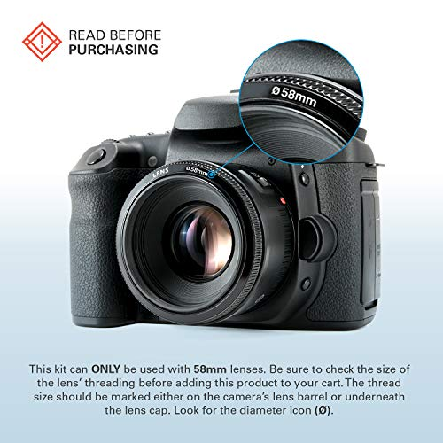 NEW LENSSO 58mm Multicoated 58 mm UV Camera Filter C