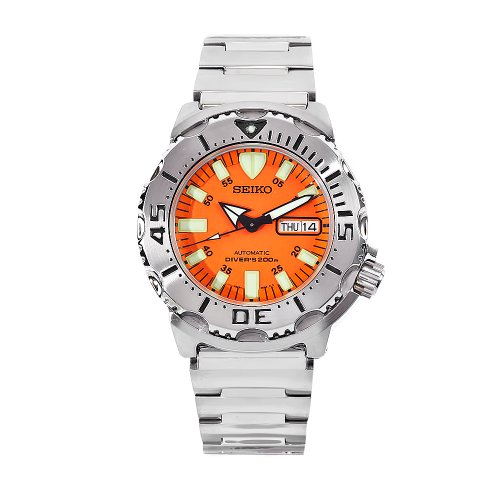 "Seiko Men's SKX781""Orange Monster"" Automatic Dive Watch"