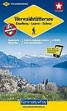Wanderkarte Vierwaldstättersee. Engelberg - Luzern - Schwyz. 1 : 60 000: Sehenswürdigkeiten. Unterkunft und Verpflegung. Autobuslinien mit Haltestellen (Kümmerly+Frey Wanderkarten)