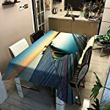 QWEASDZX Mantel Simple Personalidad Poliéster Impresión Digital Resistente al Aceite y Resistente al Agua Mantel Rectangular Adecuado para Interiores y Exteriores Mantel de usos múltiples 140x200cm