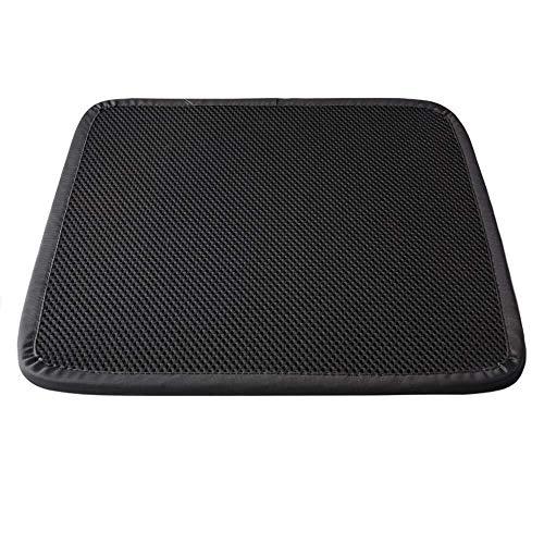 Laotie Memory Foam zitkussen, anti-condens-kussen, zitkussen, zitkussen, stoelen voor kantoor, extra comfort stand-alone, synthetische steun, afmeting 40 x 40 cm, zwart.