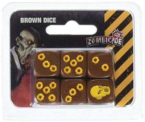 Edge Entertainment- Dados, Juego de Tablero, Color marrón (Cool Mini or Not EDGZG71)