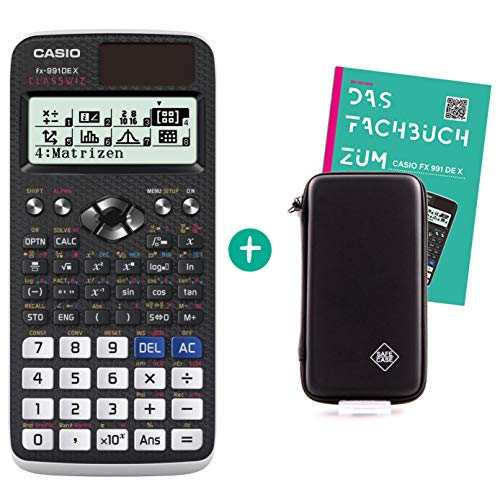 Casio FX 991 DE X + Schutztasche + Fachbuch