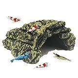 ALIANG Decoraciones para Cuevas de camarones - Refugio cómodo de Resina para escondites o camarones, Bordes Lisos de Textura Suave y escondite Espacioso para Que los Peces descansen y se reproduzca