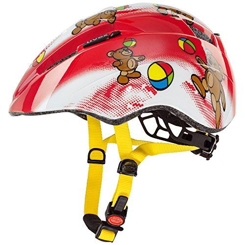 UVEX, Casco ciclismo Bambino, Rosso (Bears), 46-52 cm