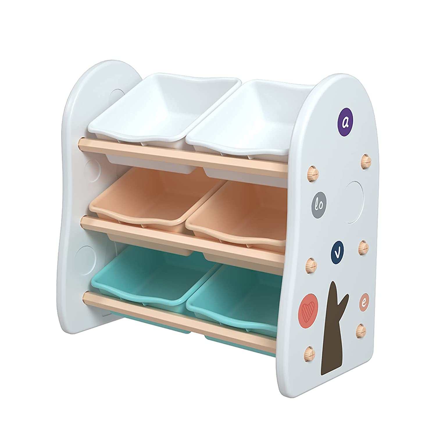 Trlec gt4-ly San Diego Mall 35% OFF Practical Wooden Kids' Organizer Storage with Toy 6