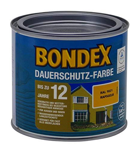 Bondex Dauerschutz Farbe, 0,5 Liter in rapsgelb RAL 1021