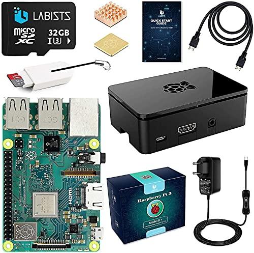 Raspberry pi 3b + con 32GB Micro SD Clase 10, 5V 3A...