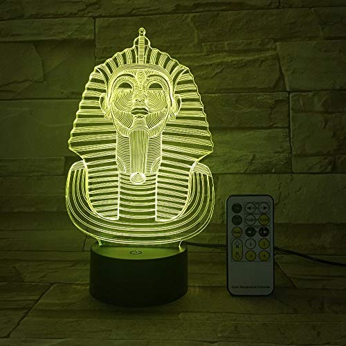 Only 1 Piece Egyptian Sphinx Pharaoh 3D Lamp LED Lamp USB Night Light Touch Remote Room Decor Gift 3D