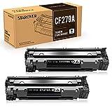 STAROVER Cartucho de Tóner Compatible Repuesto para HP 79A CF279A para HP Laserjet Pro MFP M26 M26nw M26a HP Laserjet Pro M12 M12w M12a Impresora (2 Negro)