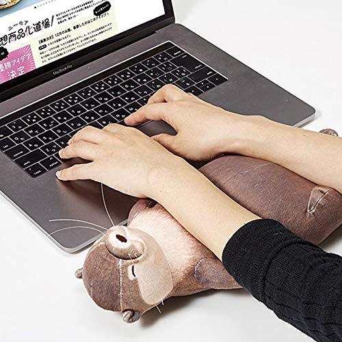 Creativa Nutria Simulación Animal Peluche Juguete Almohada Muñeca Teclado Estuche Para Lápices Bolsa De Almacenamiento Muñequera Fresca Gift