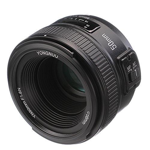Yongnuo 50mm, f/1.8,Objektiv mit Normal-Festbrennweite und großer Blendenöffnung und automatischem oder manuellem Fokus (AF, MF), für die digitale Spiegelreflexkamera (DSLR) von Nikon