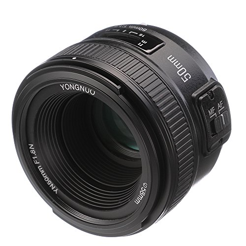 YONGNUO YN 50mm F1.8 Standard Prime Lens Large Aperture Auto Manual Focus AF MF for Nikon DSLR...