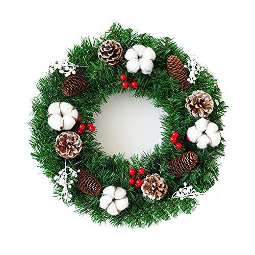 JIN GUI Batterietür hängen Weihnachtsgirlande, schöne und langlebige Haustür Fenster Dekoration, geeignet für Hotel Familientreffen