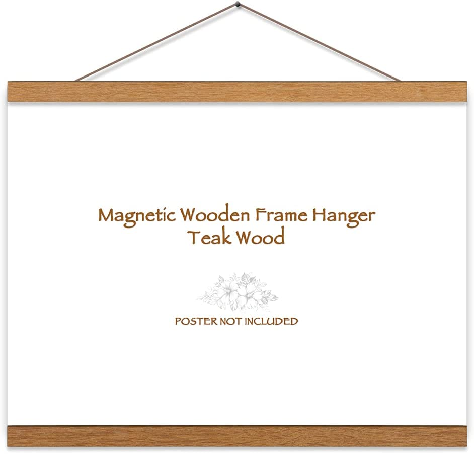 Pacifica Island Art Teak Wood Magnetic - Courier shipping free shipping Poster Fit Many popular brands Frame Hanger