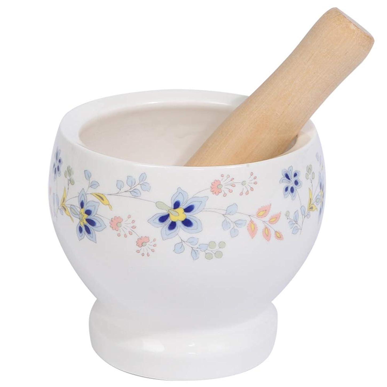 例外ポンドメイド磁器大型乳鉢と乳棒セット研削ボウルキッチンツールボウルハーブスパイスマッシャー簡単クリーン