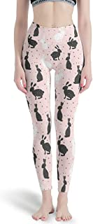 IOVEQG Womens High Waist Yoga Pant Easter Rabbits Bunny Cute Workout Seamless Leggings Tights for Girls