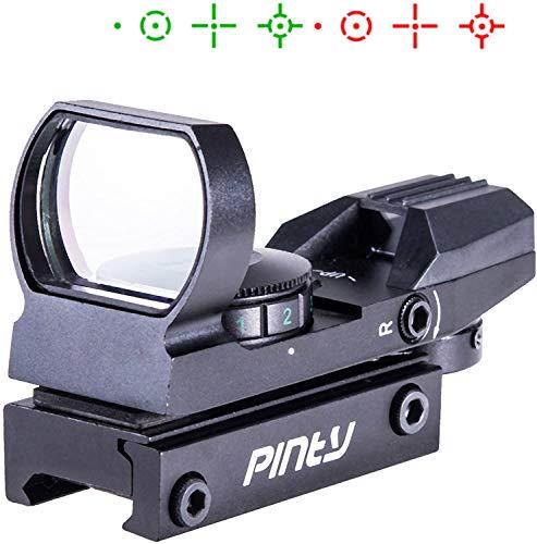 Pinty(ピンディー) ドットサイト ダットサイト マルチドット 照準器 2色 レティクル4種 20mmレール対応 日本語説明書付き 電池なし