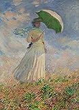 Rompecabezas Claude Monet de 150 piezas para mujer con sombrilla